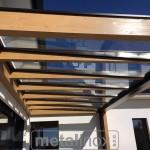 Drevený modern prístrešok s krytinou sklo 5